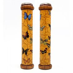 Handmade kaleidoscope The Butterflies created in a professional workshop of St. Petersburg in Russia.