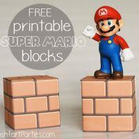 Printable Super Mario Blocks - Easy DIY Mario Party Decor