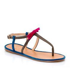 Sandales, cuir, entre doigt, Aiko