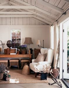 Extra detached garage space as studio