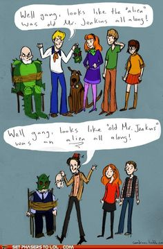 The difference between Scooby Doo and Doctor Who.