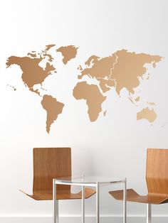 Large world map wall decal sticker 7ft x 347ft vinyl wall stickers large world map wall decal sticker 7ft x 347ft vinyl wall stickers decals with decoraci casa pinterest vinyl wall stickers and wall decal sticker gumiabroncs Gallery