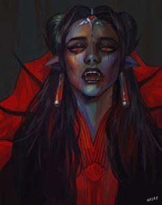 ArtStation - vampire symmetra, Nisat S