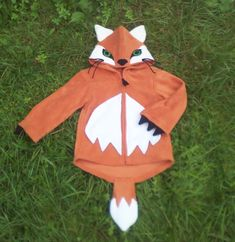 FOX HOODIE - Woodland Fox Creature Animal Children's character hooded top by RaggtaggPixie on Etsy https://www.etsy.com/listing/172370541/fox-hoodie-woodland-fox-creature-animal
