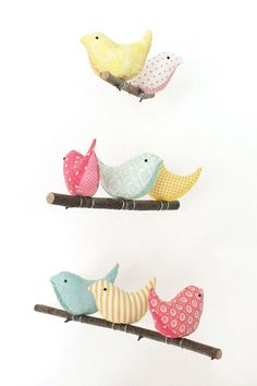 Nursery Bird Mobile Baby Crib/Cot Decor 8 by PigsHaveWings