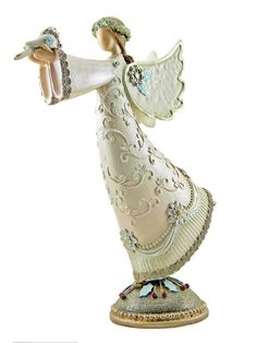 Victorian Style Angel of Peace Figurine