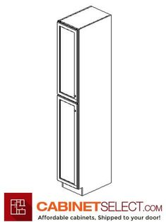 Buy Greystone Shaker Kitchen Cabinets - RTA Cabinets by CabinetSelect Shaker Kitchen Cabinets, Kitchen Cabinet Design, Wood Cabinets, Wood Pantry Cabinet, Glass Cabinet Doors, Cabinets Direct, Grey Shaker Kitchen, White Pantry, Pantry Design