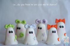 Little Ghostie Girls. Hand Crafted Fondant.