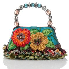 Mary Frances Bag with Beaded Handle