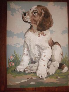 Vintage Paint by Numbers PBN Dog