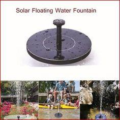 Solar Water Fountain Pump Floating Panel Pool Garden Pond Water Sprinkler  #SN