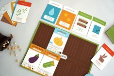 Grow - Lydia Nichols Game Card Design, Board Game Design, Box Design, Layout Design, Graphic Design Projects, Graphic Design Inspiration, Agriculture, Card Ui, Paper Games