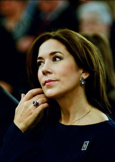 Crown Princess Mary patron of the Christmas Seal Foundation during the presentation of the new Christmas Seal for 2014, at the City Hall of Copenhagen. 27 October 2014