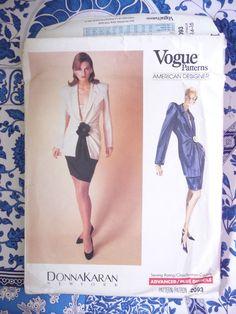 Vogue Pattern   2093       DONNA KARAN    -      Size:  12-14-16   -   Uncut