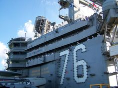 Manning the Rails - USS Ronald Reagan