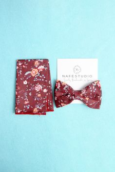 Mens Bow Tie Burgundy Bow Tie For Men Wine Bow Tie - Groom Bow Tie Men Bow Tie Gift Wedding Gifts Dark Red Floral Bow Tie Flower Bow Tie