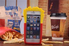 Moschino Motiv Pommes frites Schutzhülle für iPhone 4/5/6/6plus Weich Silikon…