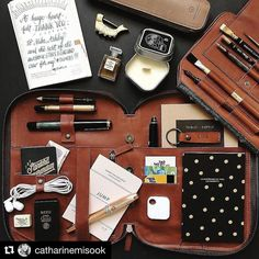 Beautiful everyday carry! #Repost @catharinemisook  I could not be more excited about the brand new @thisisground Mod Tablet 3!!!! Thank you so much to the awesome folks at TIG for gifting this incredible #tigmod3 with the sketch insert in their gorgeous cognac leather!!!! The new design is amazing incredible groundbreaking jaw-dropping and yes Carlton-dance worthy (times a hundred). There are so many wonderful compartments and it comes with the @tiledit device so that you always know where…