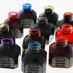 With over 100 colors to choose from #Diamine #Ink takes our breath away. #DiamineInk #FountainPen #Calligraphy #Writing