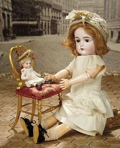 """Fascination"" - Sunday, January 8, 2017: 423 French Wooden Doll-size Chair with Gilt Finish"