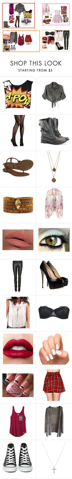 """I don't find my style...I wear all this style"" by glee2shake ❤ liked on Polyvore featuring Chicnova Fashion, Rocio, Frye, Bee Charming, Chan Luu, Ted Baker, LORAC, Yves Saint Laurent, Giuseppe Zanotti and Agent Provocateur"