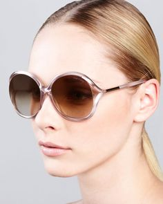 Rhi+Glitter+Oversized+Open-Temple+Sunglasses+by+Tom+Ford+at+Bergdorf+Goodman.