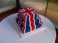 Union Jack/ British Flag Cake by ozcake, via Flickr