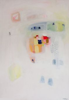 LARGE ABSTRACT PAINTING acrylic painting white by LolaDonoghue, $470.00