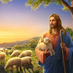 The signs of the second coming of the Lord have appeared, so how should we prepare for the second coming of the Lord? Catholic Art, Catholic Saints, Religious Art, Jesus Christ Painting, Jesus Artwork, Mary Magdalene And Jesus, Christ The Good Shepherd, Image Jesus, Good Shepard