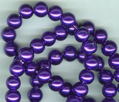 8mm Royal Purple Glass Pearl Round Beads by RockNBeads on Etsy, $4.00