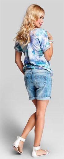 boyfriend shorts Pregnancy Jeans, Maternity Jeans, Boyfriend Shorts, Denim Shorts, Swimsuits, Women's Fashion, Clothes For Women, Lady, How To Wear