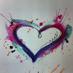 Watercolor heart tattoos, watercolor tattoo и purple heart tattoos. Wörter Tattoos, Trendy Tattoos, Foot Tattoos, Cute Tattoos, Beautiful Tattoos, Flower Tattoos, Body Art Tattoos, Small Tattoos, Sleeve Tattoos
