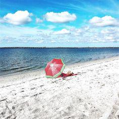 Summer is Here #summer #summertime #summerfun #courtneycampbellcauseway #beach #tampabay #sky #clouds #bridge #water #red #umbrella #instagood #instalike #instacool #instalove #instamood #instagram #bestoftheday #picoftheday #photooftheday #iphoneonly #iphonesia #follow #instafollow #followme