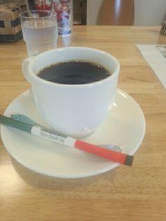 食後は黒豆コーヒーいただいています。おいしいです。