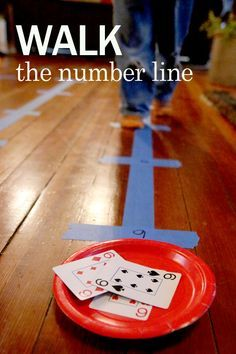 Walk the number line activity for preschoolers to help recognize and count numbers