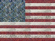Artistic Tile I American Flag In Jazz Glass