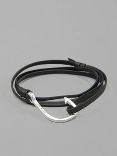 2012.04.15. Handmade black leather bracelet with a silver hook from Miansai. Great stuff.