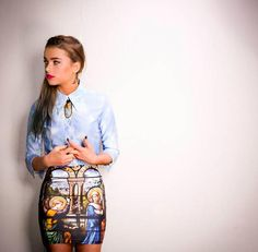 blackmilkclothing/ catholic #repinning for that pretty blouse and #outfit