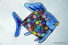 Day #139 Generosity through Rainbow Fish, Character Development #20 - Meaningfulmama.com