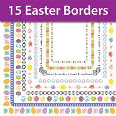 Easter Borders Clip Art, Easter Frames