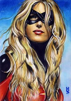 Ms. Marvel aka Major Carol Danvers (also Binary, Captain Marvel and Warbird) from Marvel Comics - image by Veronica O'Connell