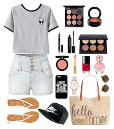 """""""Untitled #29"""" by jamslzr on Polyvore featuring Chicnova Fashion, LE3NO, Aéropostale, Style & Co., NIKE, CLUSE, MAC Cosmetics, Marc Jacobs, Armani Beauty and Napoleon Perdis"""