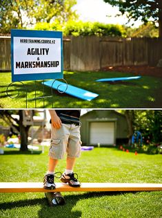 MARVELous Superhero Themed Birthday Party... Obstacle Course Ideas