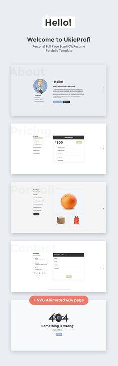 UkieProfi – Personal CV/Resume Portfolio Template  -  http://themekeeper.com/item/site-templates/ukieprofi-cvresume-portfolio-template