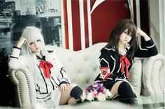 Amazing cosplay by Hà Chick & Linh Miew -- Vampire Knight's Maria and Yuki