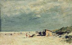 The Beach Stall, Norfolk. Edward Seago