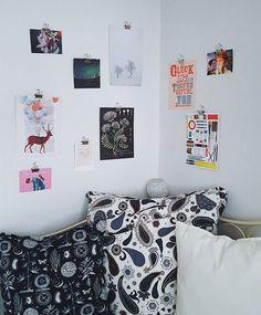 Polaroid Foto Schnur Klammern Wohnzimmer Uberm Sofa