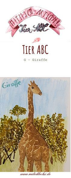 Weiter geht es mit meiner Mitmach-Aktion dem Tier-ABC. Diesmalmitdem Buchstabe -G- Giraffe. Für alle die gerne malen und zeichnen Tier Abc, Giraffe, Movie Posters, Art, Hands On Activities, Letter G, Felt Giraffe, Film Poster, Popcorn Posters