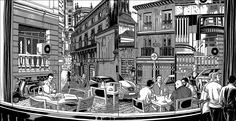 """""""Chueca"""" illustrations series by Miguel Navia @ Madrid, Spain. Great Artists, Illustrations Posters, Spain, Abstract, Artwork, Editorial, Drawings, Big Books, Art"""