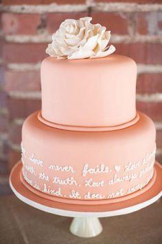 Scripture Verse on Wedding Cake